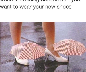 shoes, funny, and rain image