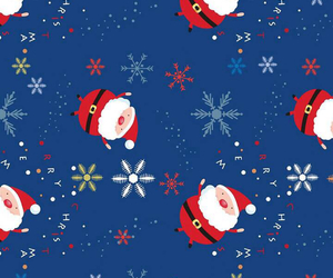 background, christmas, and santa image