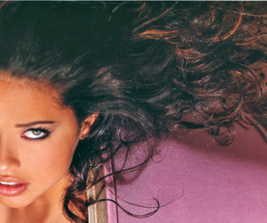 Adriana Lima, blue eyes, and curly hair image