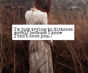 distance, giving up, and hopeless image