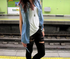 black jeans, look, and outfit image