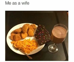 funny, food, and wife image