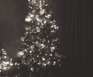 black and white, christmas, and merry christmas image
