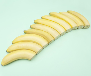 banana, pastel, and aesthetic image