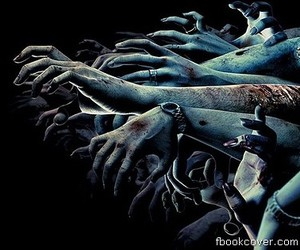 hands, dark, and zombies image