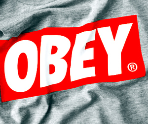 obey, red, and grey image