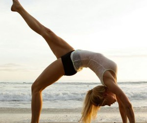 beach, fitness, and fit image