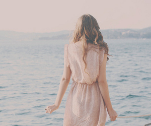 girl, sea, and dress image