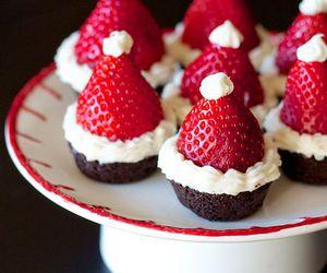 christmas, strawberry, and chocolate image