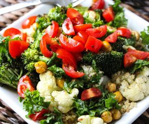health, salad, and food image