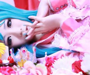 vocaloid cosplay, cute cosplay girl, and cute anime costume image