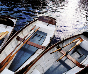 boat, blue, and sea image