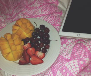 bed, cherry, and mango image