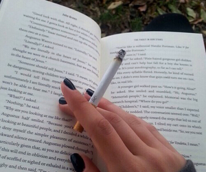 book, smoke, and cigarette image
