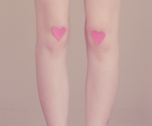 heart, pink, and legs image