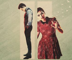 doctor who, clara, and the doctor image