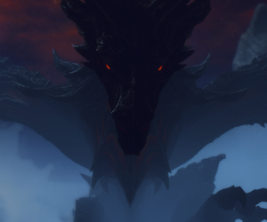 Darkness, dragon, and canines image