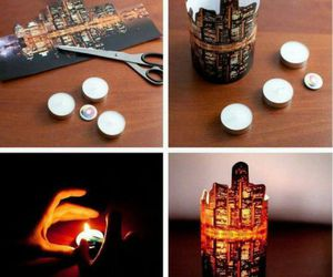 diy, candle, and city image