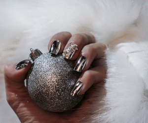 christmas, nail, and silver image