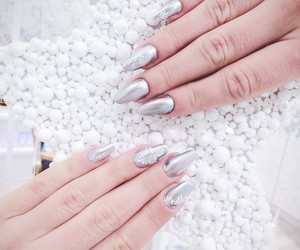 luxury, silver, and manicure image