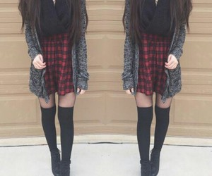 fashion, boots, and scarf image