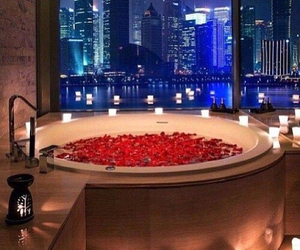 luxury, bath, and rose image