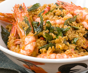 cereal, chinese food, and prawn image