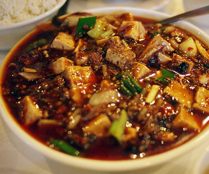 chinese food, mapo tofu, and sichuan food image