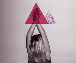 girl, photography, and triangle image
