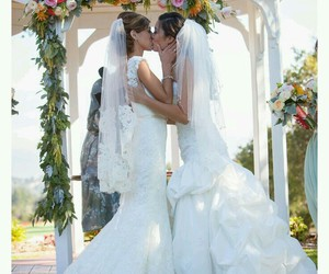 love, kiss, and brides image
