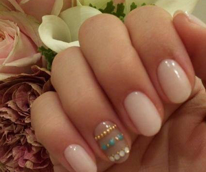 cute nails pink image