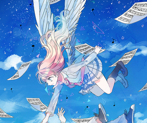 anime, shigatsu wa kimi no uso, and angel image