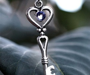 heart, jewelry, and key image