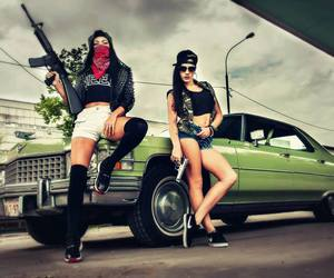 bad girls, black, and style image