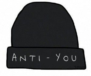 accessory, beanie, and black image