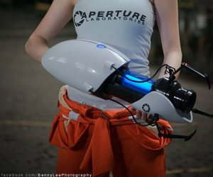 blue, portal, and cosplay image
