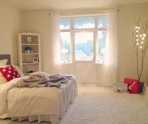 bedroom, interior, and beige image