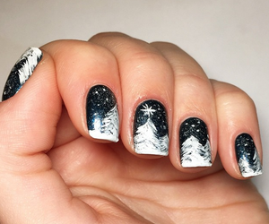 nails, winter, and beauty image