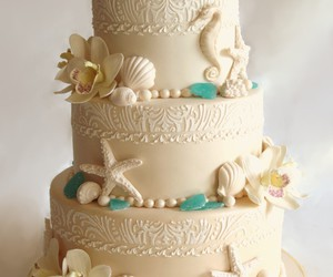 beach, cake, and beautiful image