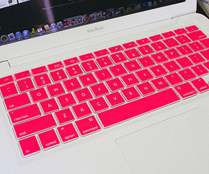 pink, macbook, and laptop image