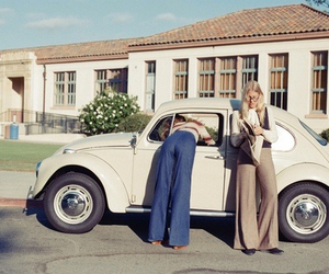 fashion, 70s, and car image