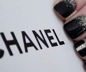 black, trademark, and chanel image