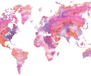 world and pink image