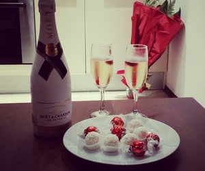 champagne, drink, and moet image
