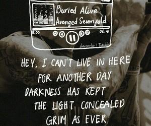 avenged sevenfold, buried alive, and Lyrics image