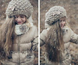 kids, snow, and style image