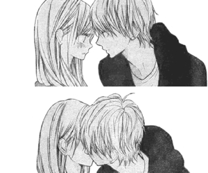 kiss, couple, and cute image