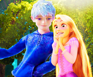 cartoon, jack frost, and rapunzel image
