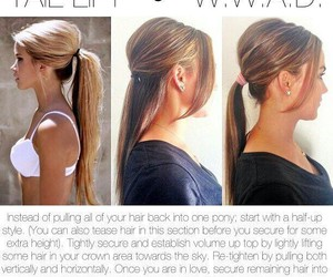 hair, diy, and ponytail image