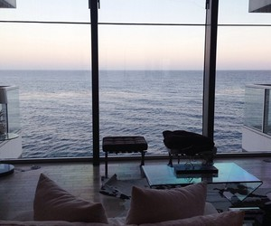sea, ocean, and house image